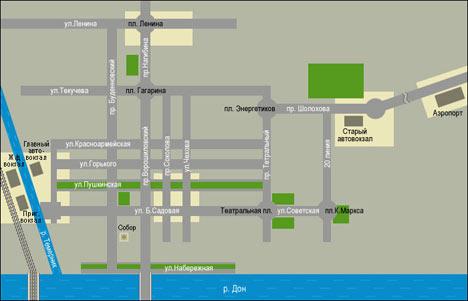Общая схема центра города